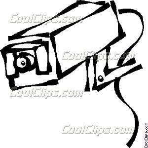 300x300 Surveillance Cameras Vector Clip Art