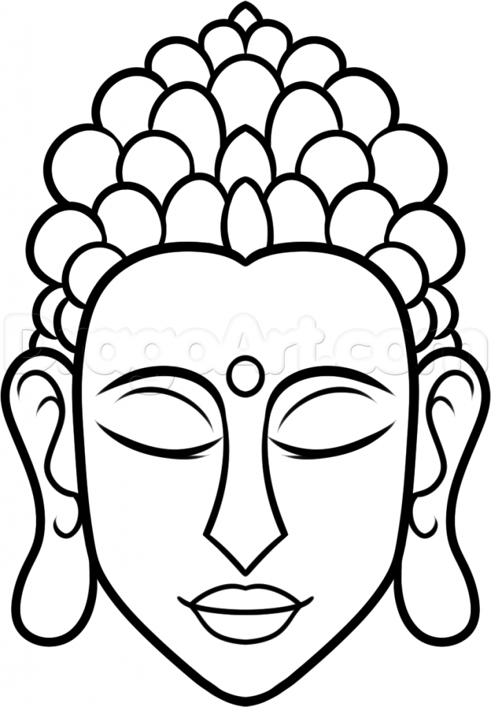 711x1024 How To Draw A Buddha How To Draw Buddha Easy Step Step Faces