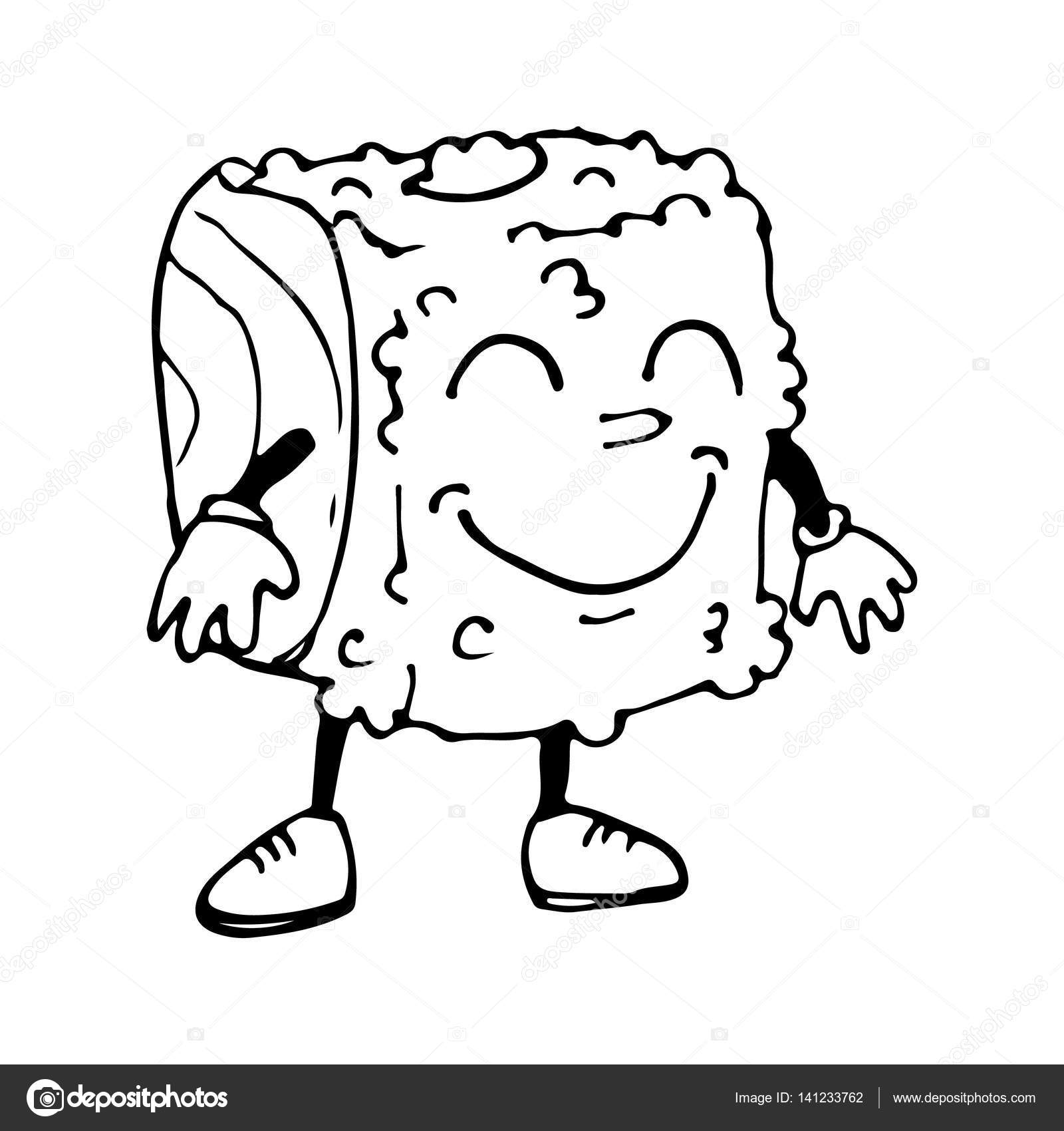 1600x1700 Roll A Character. Sketch Cartoon. The Emotion Of Joy. Vector