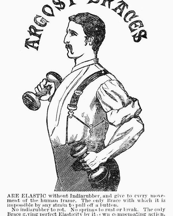 600x750 Advertisement Suspenders Poster By Granger