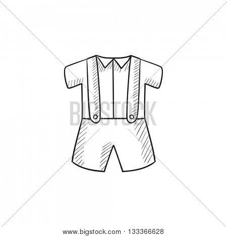 450x470 Baby Shirt Shorts Suspenders Vector Amp Photo Bigstock