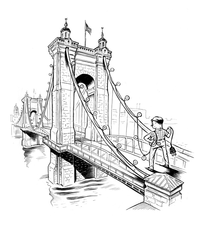 664x756 Lars Leetaru Roebling Suspension Bridge