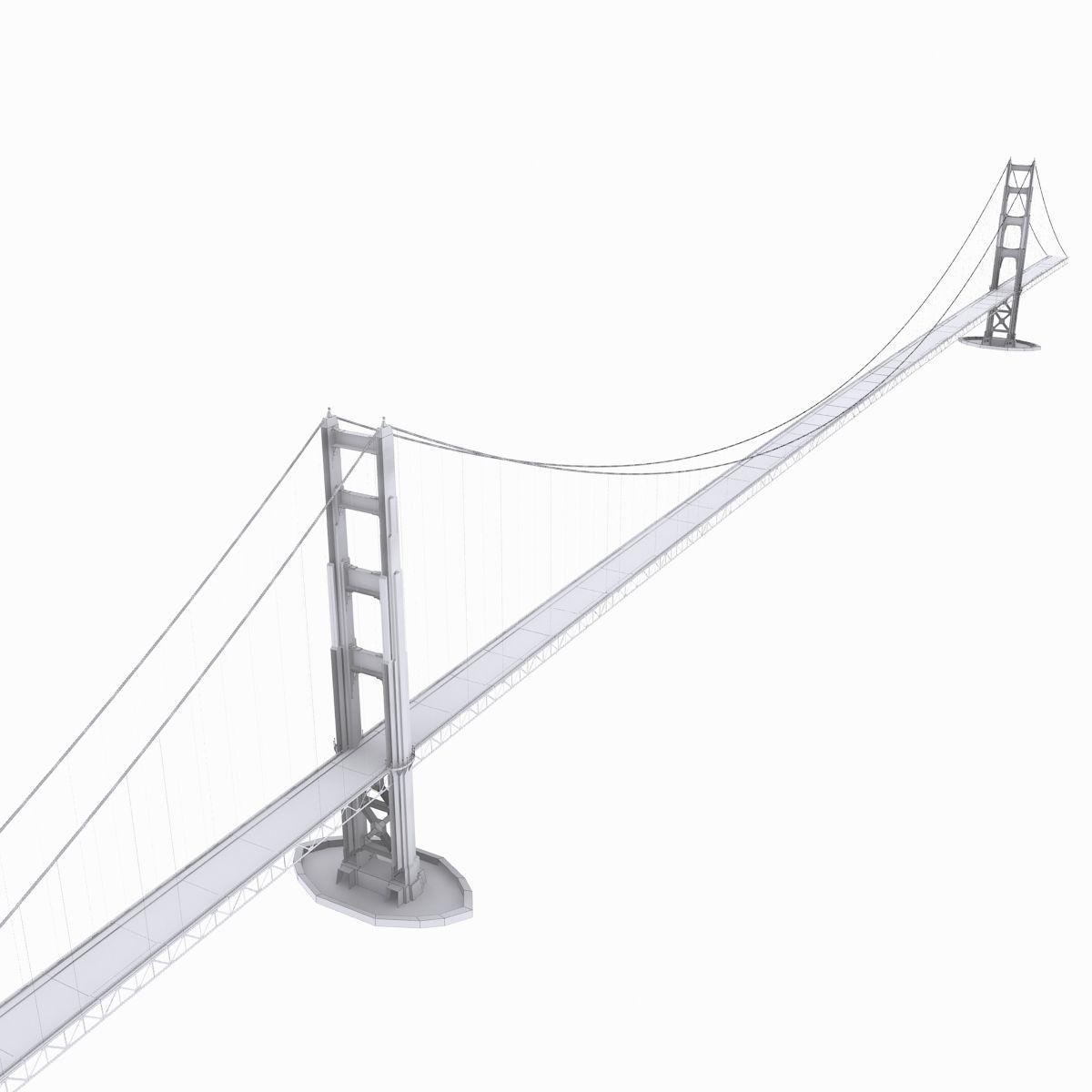 1200x1200 Suspension Bridge 3d Pbr Cgtrader