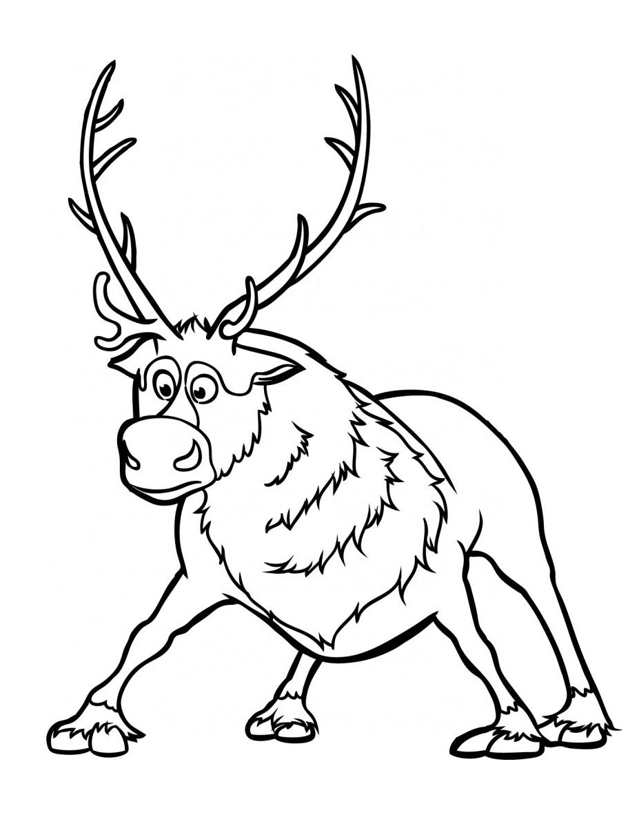 914x1218 Frozen Reindeer Coloring Pages Page Fun