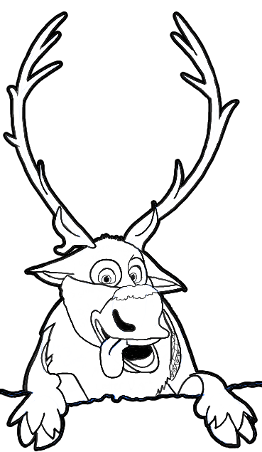 369x635 How To Draw Sven The Reindeer From Frozen Step By Step Tutorial