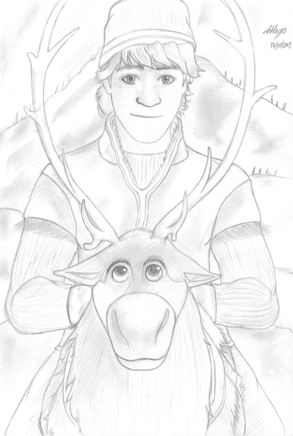 1024x1526 Kristoff And Sven By Ergonis