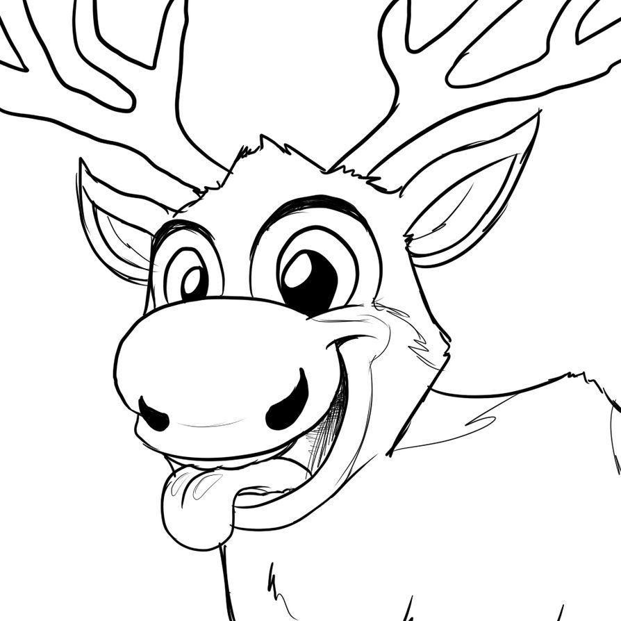894x894 Printable Drawings Of Sven From Frozen