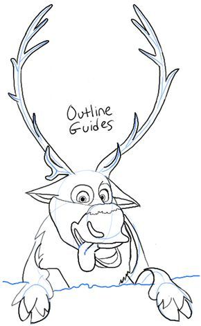 290x471 Step Step09 Sven Frozen How To Draw Sven The Reindeer