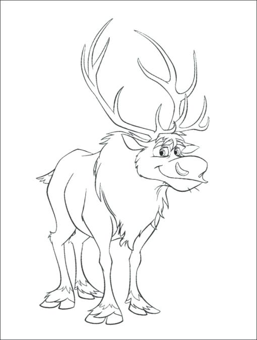 510x675 Sven Coloring Pages Coloring Pages Photo Gallery Next Image Frozen