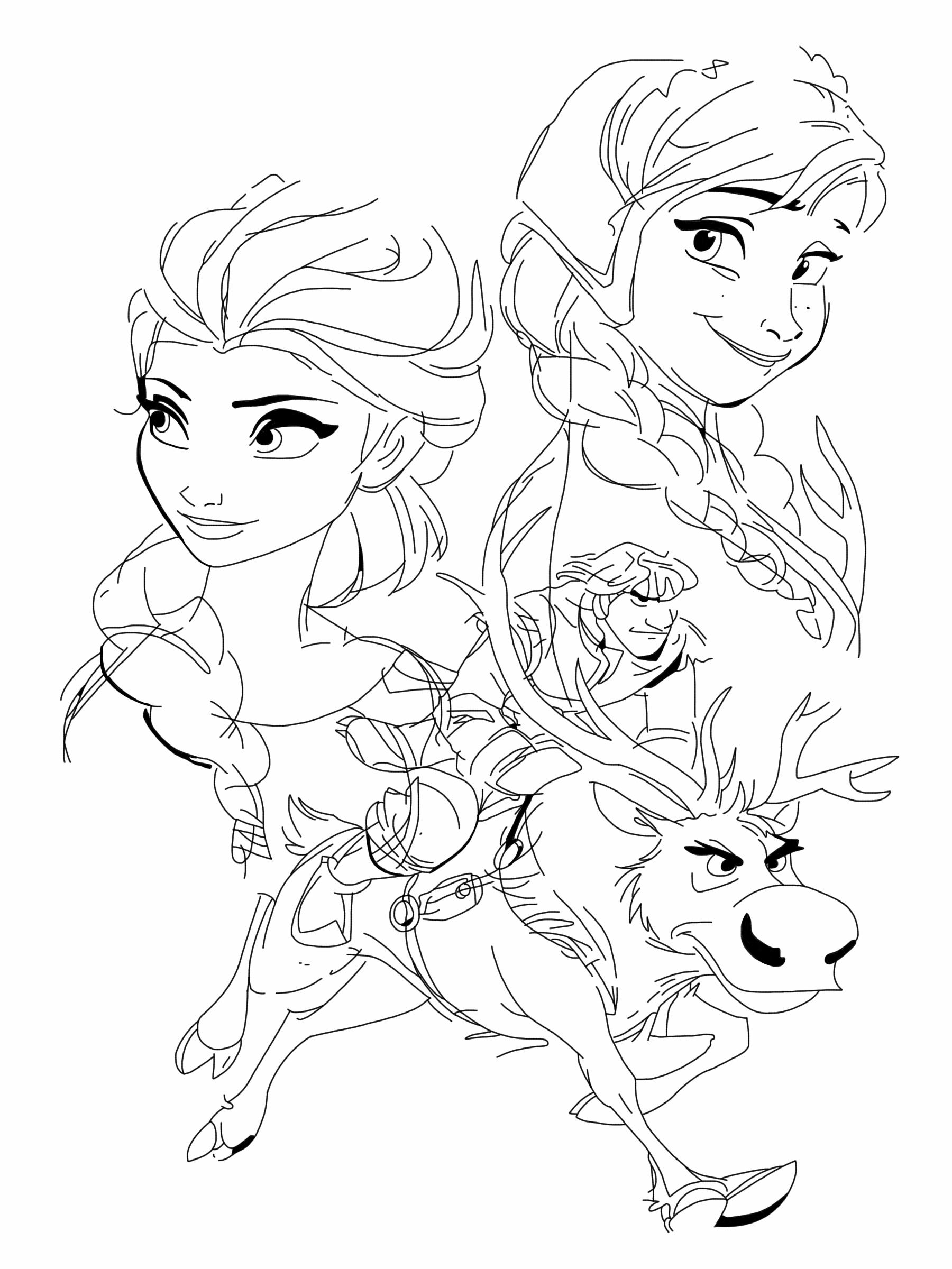 1800x2400 Anna, Elsa, Kristoff And Sven By Spartandragon12