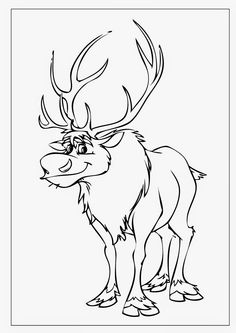 236x333 Sven The Reindeer Coloring Pages