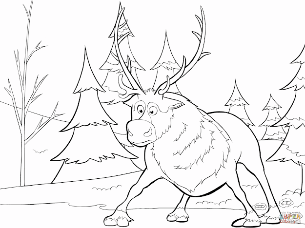625x468 Best Free Sven Frozen Coloring Pages Library