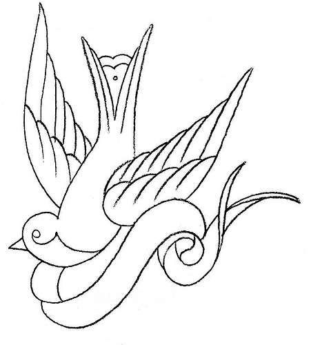 451x500 Swallow Bird Drawing Tattoo