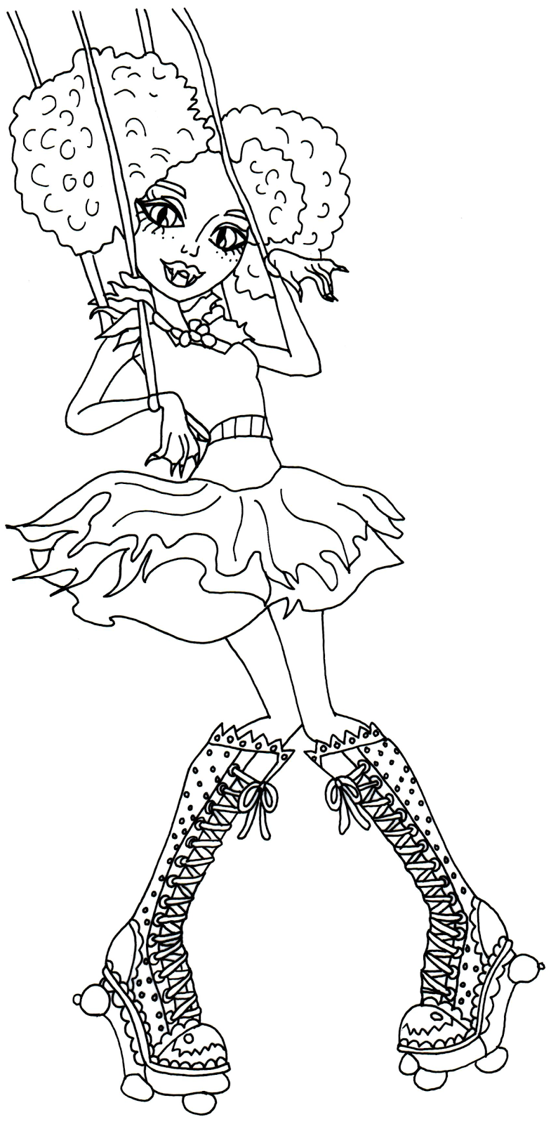 795x1600 Free Printable Monster High Coloring Pages Honey Swamp Freak Du