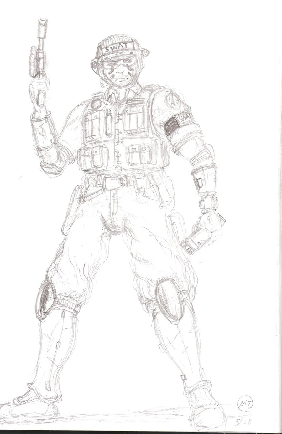 900x1387 Sci Fi Swat Soldier By Anastas2002