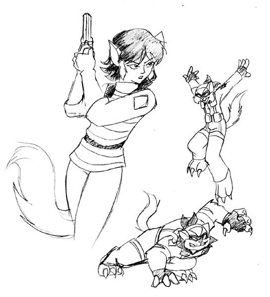 546x600 Swat Kats Felina Sketch By Ty Chou