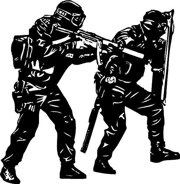 600x616 C100 Wall Art Removable Vinyl Decal Sticker Kid Room Police Swat