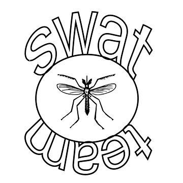 360x360 Mosquito Swat Team Tri Blend T Shirt By Slightlyskewy Redbubble