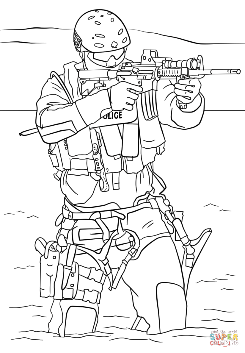 824x1186 Swat Police Coloring Page Free Printable Coloring Pages