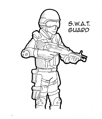 Swat team drawing at free for personal for Swat team coloring pages