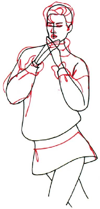 400x835 How To Draw A Woman In An Oversized Sweater In 5 Steps Drawing