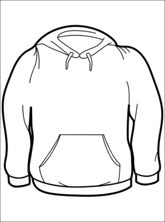 560x750 Print Kleurplaat Sweater Gratis Kleurplaten Kleding