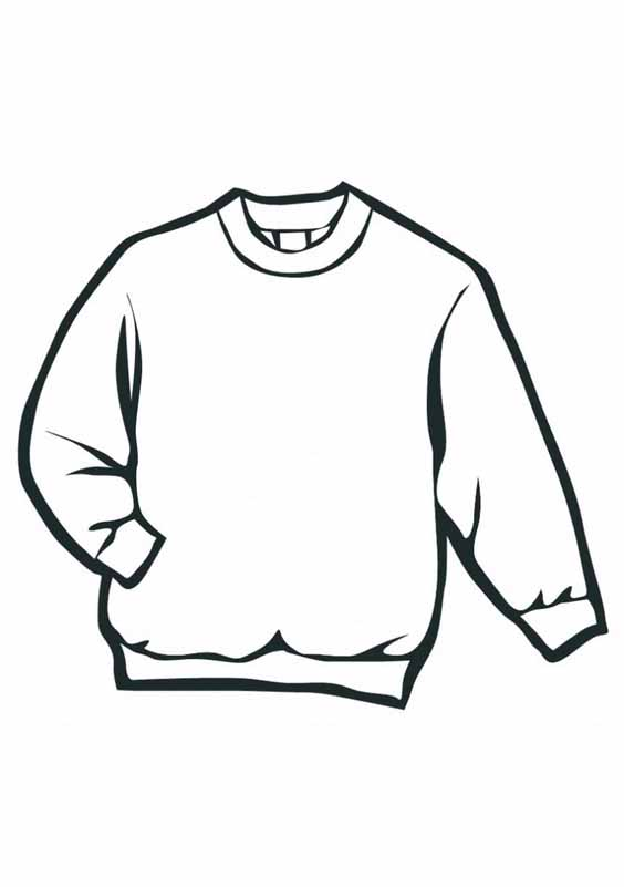 564x801 Sweater Coloring Pages