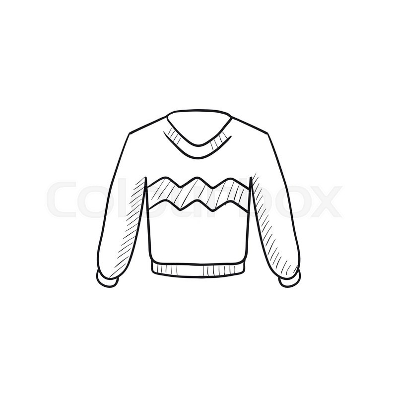 800x800 Sweater Vector Sketch Icon Isolated On Background. Hand Drawn