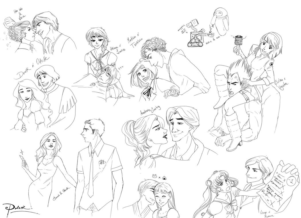 1048x762 Fanart Couples Sketches By Palnk