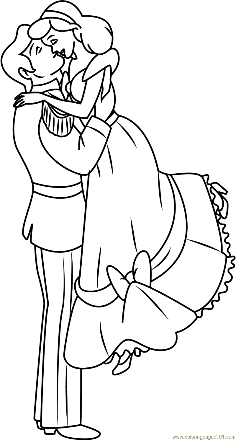 800x1490 Sweet Couple Coloring Page