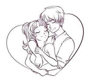 300x274 Cartoon Couples Sketches
