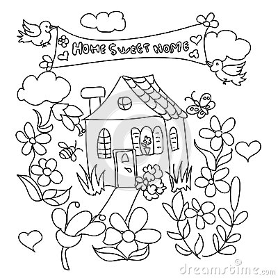 400x400 Home Sweet Home Drawing Christmas Ideas,