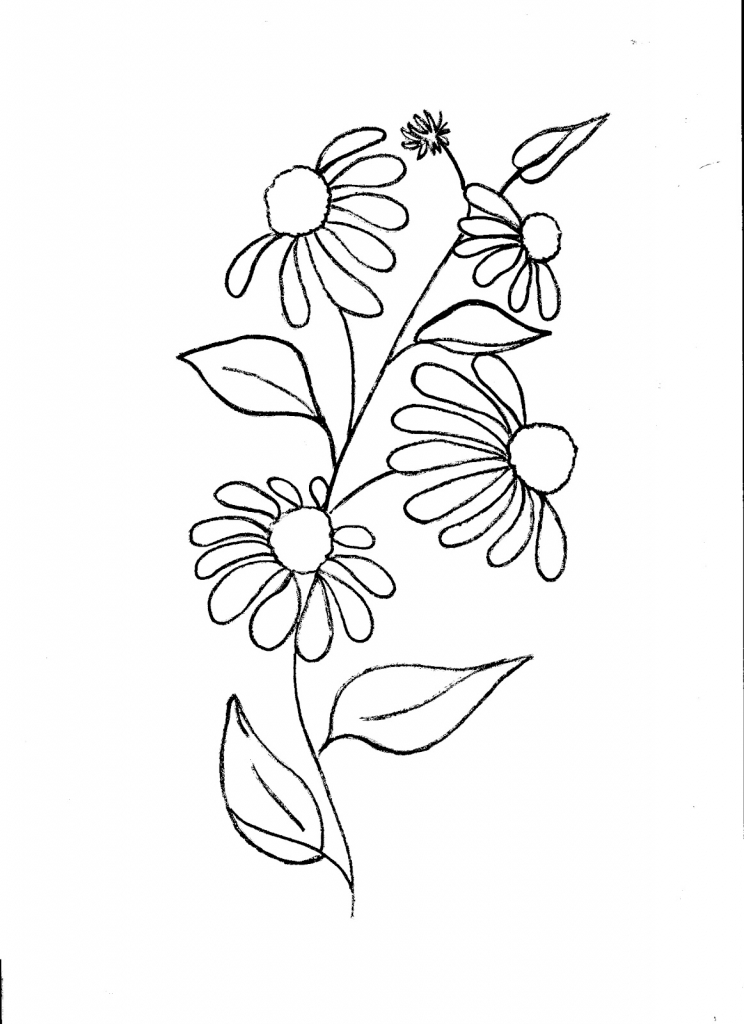 744x1024 Flower Fabric Painting Designs For Beginners Images About