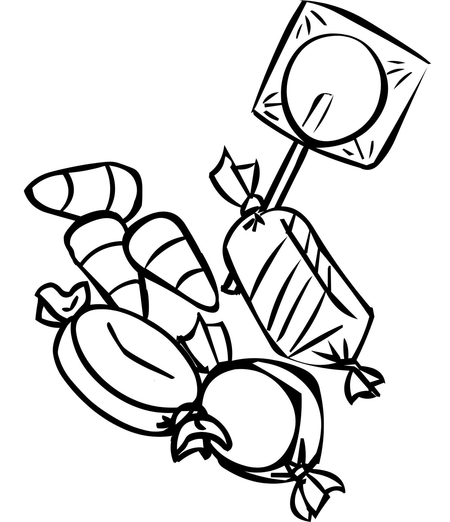 1500x1740 Sweet Treat Birthday Coloring Pages For Kids