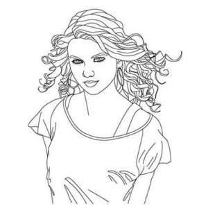 300x300 How To Draw Taylor Swift Coloring Page Color Luna