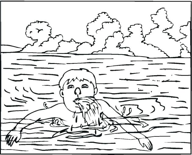 630x509 Free Swimming Coloring Pages Pool Sheets Murs