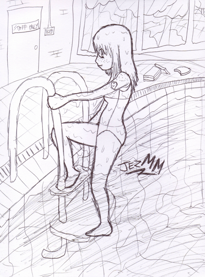700x946 Laura Swimming Pool Sketch By Jezmm