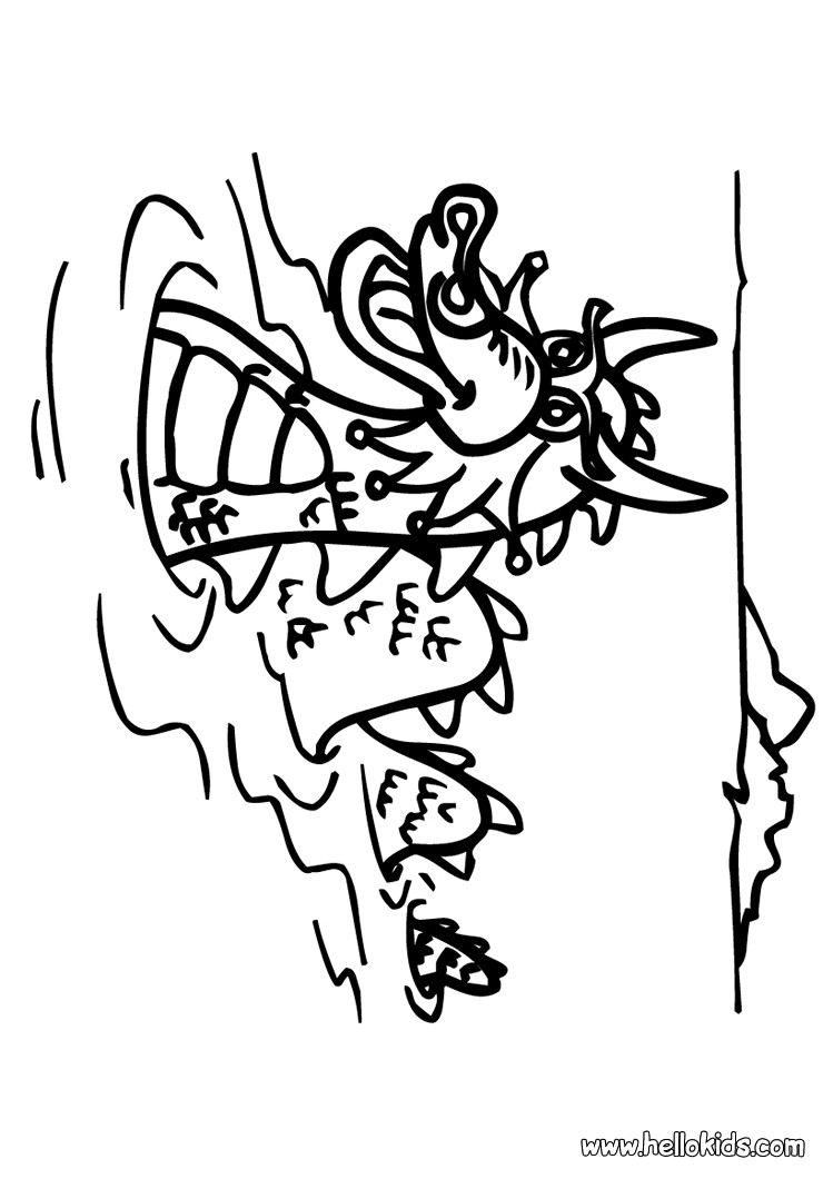 749x1060 Swimming Dragon Coloring Pages