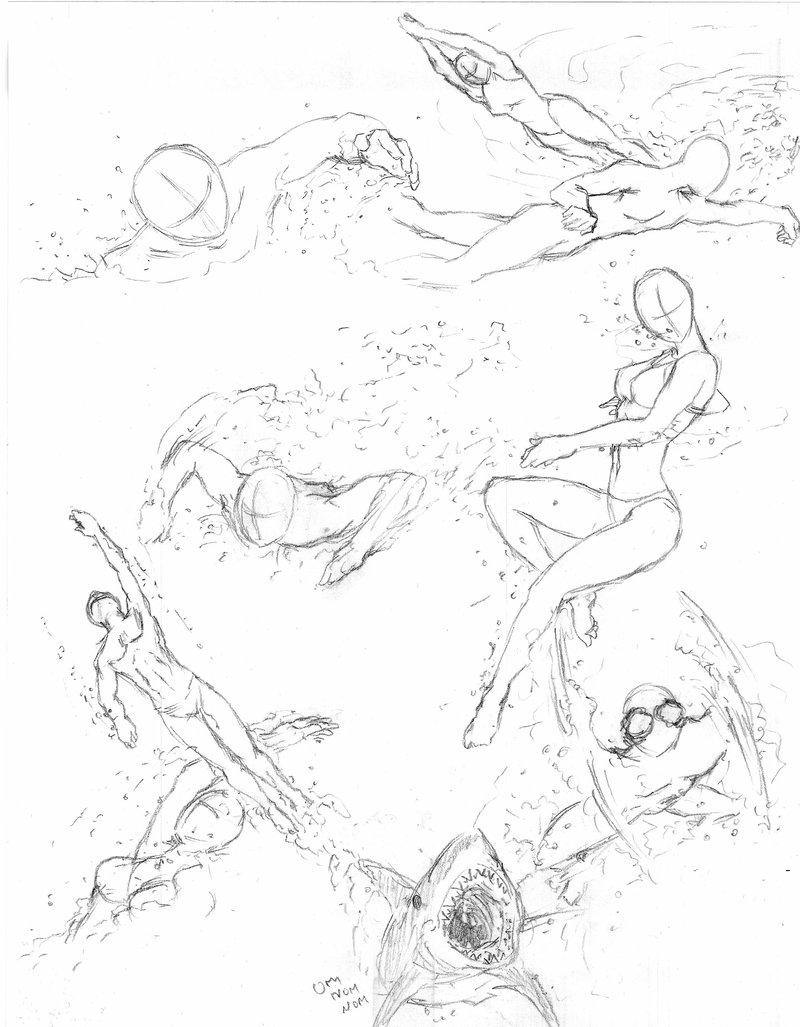 800x1027 Swimming Poses By Shinsengumi77