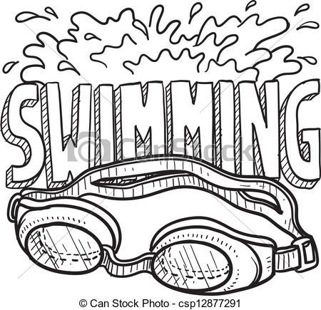 450x435 Swimming Goggles Clip Art