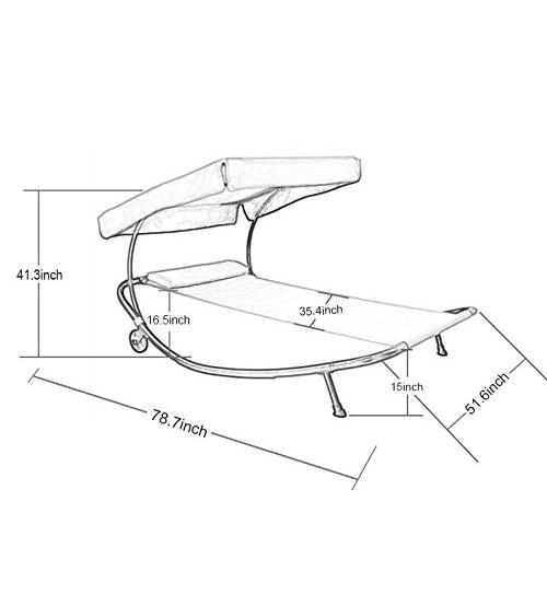 500x554 Abba Patio Outdoor Portable Single Hammock Bed Swimming Pool