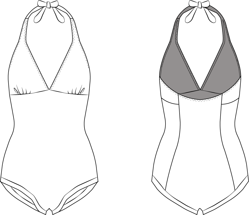 Swimsuit Drawing at GetDrawings.com | Free for personal use Swimsuit ...