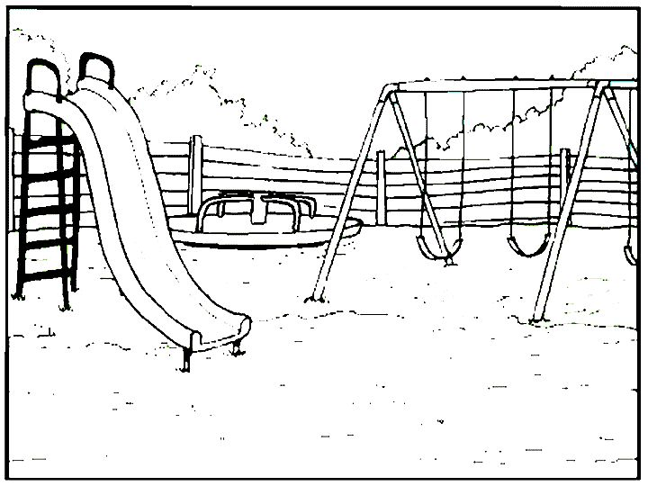 Swing Set Drawing
