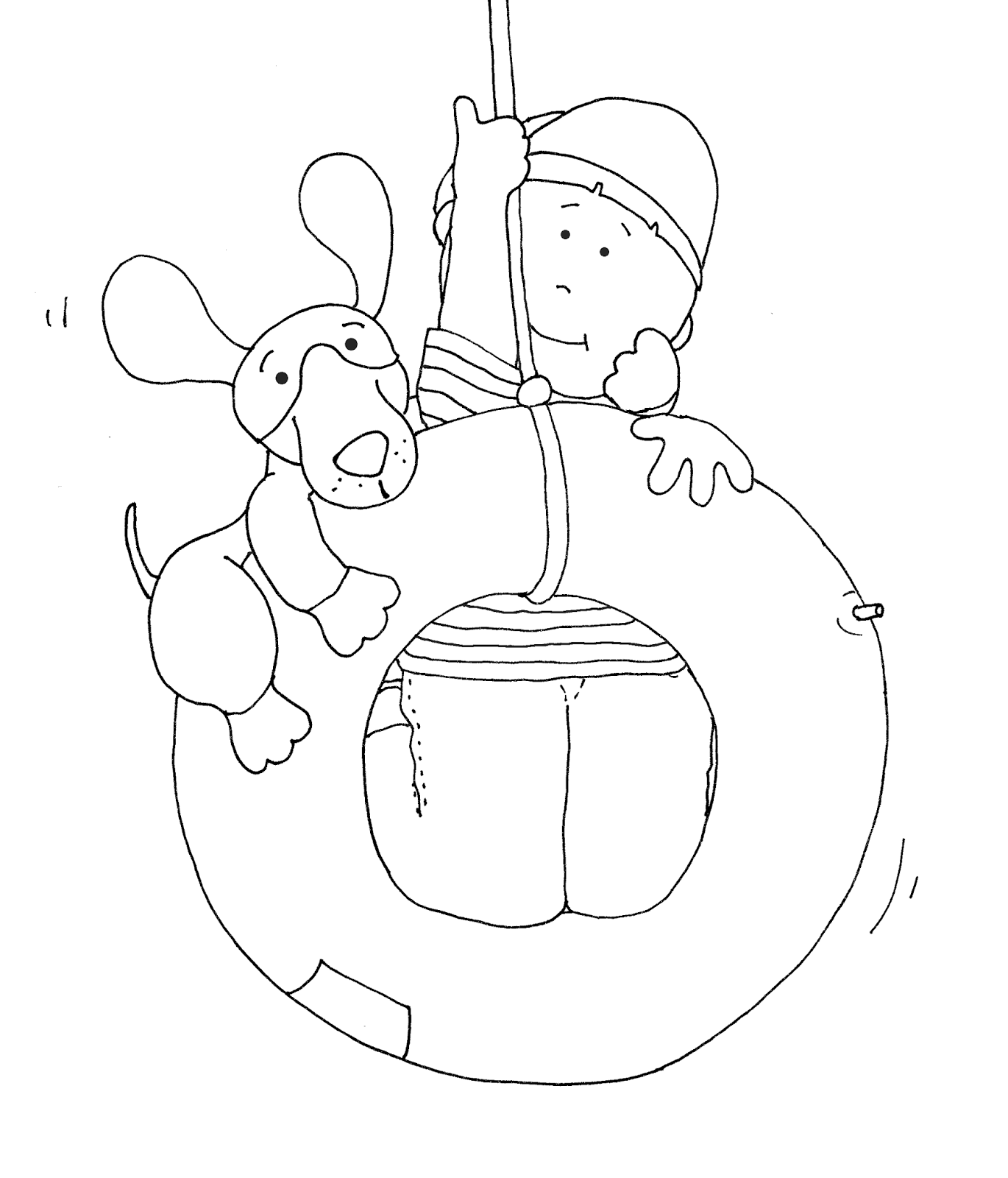 1370x1600 Tire Swing Buddies Coloring Pages Tired