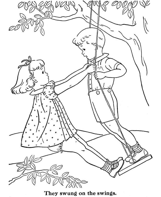 Swingset Drawing at GetDrawings.com | Free for personal use Swingset ...