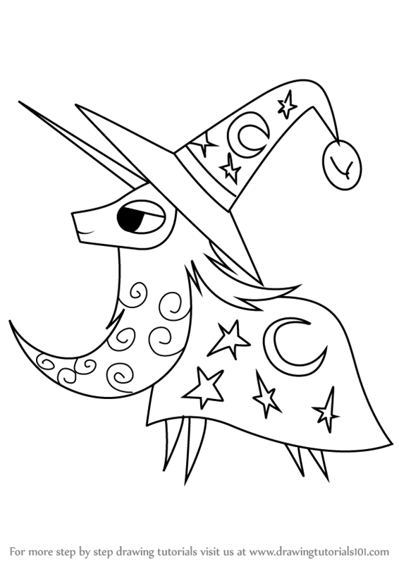 566x800 Learn How To Draw Star Swirl The Bearded From My Little Pony