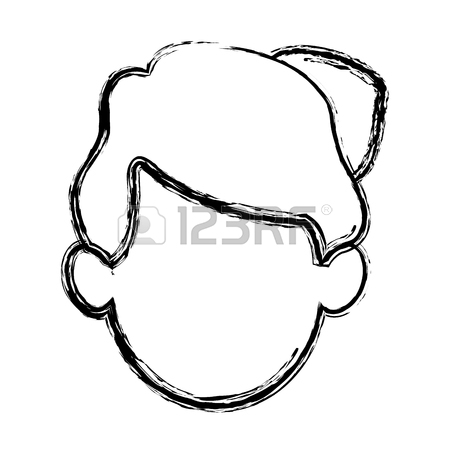 450x450 Silhouette Drawing Of Faceless Half Body Woman With T Shirt