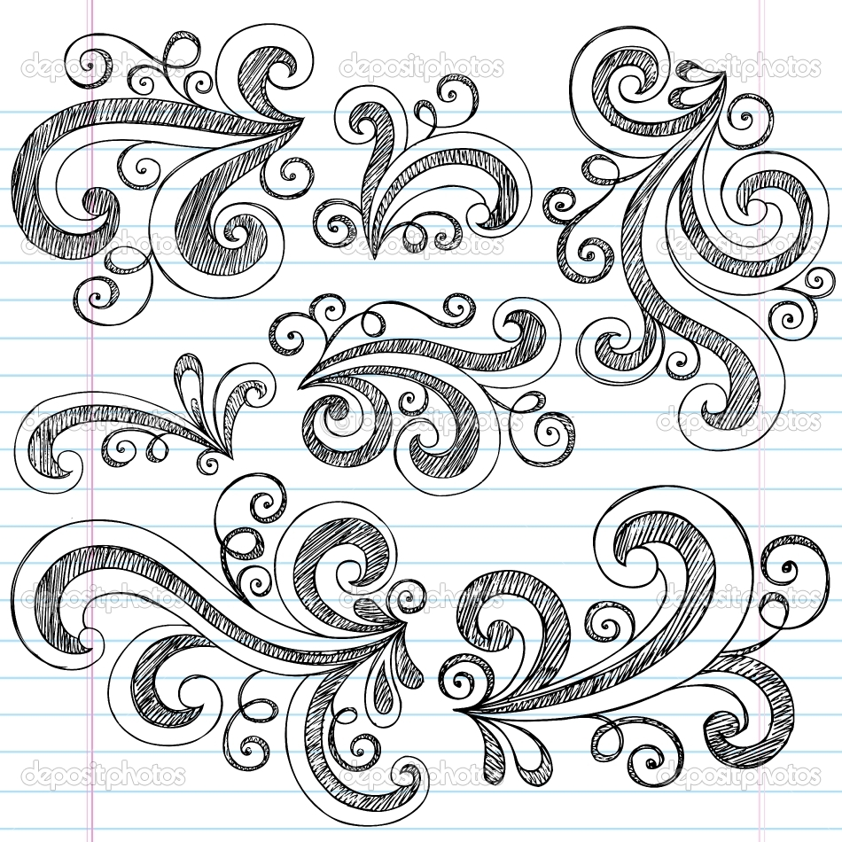 950x950 Simple Doodle Ideas Sketchy Doodle Swirls Vector Design Elements
