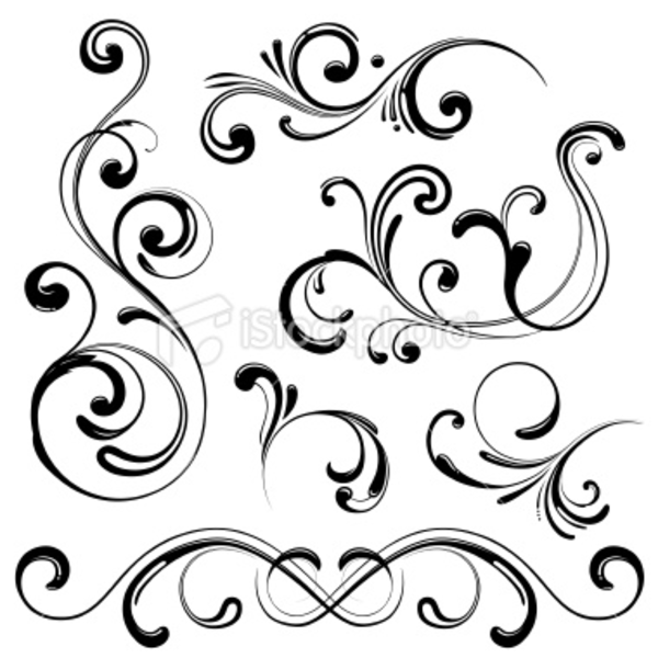 600x600 Line Art Drawings Of Swirls Clip Art Drawingart