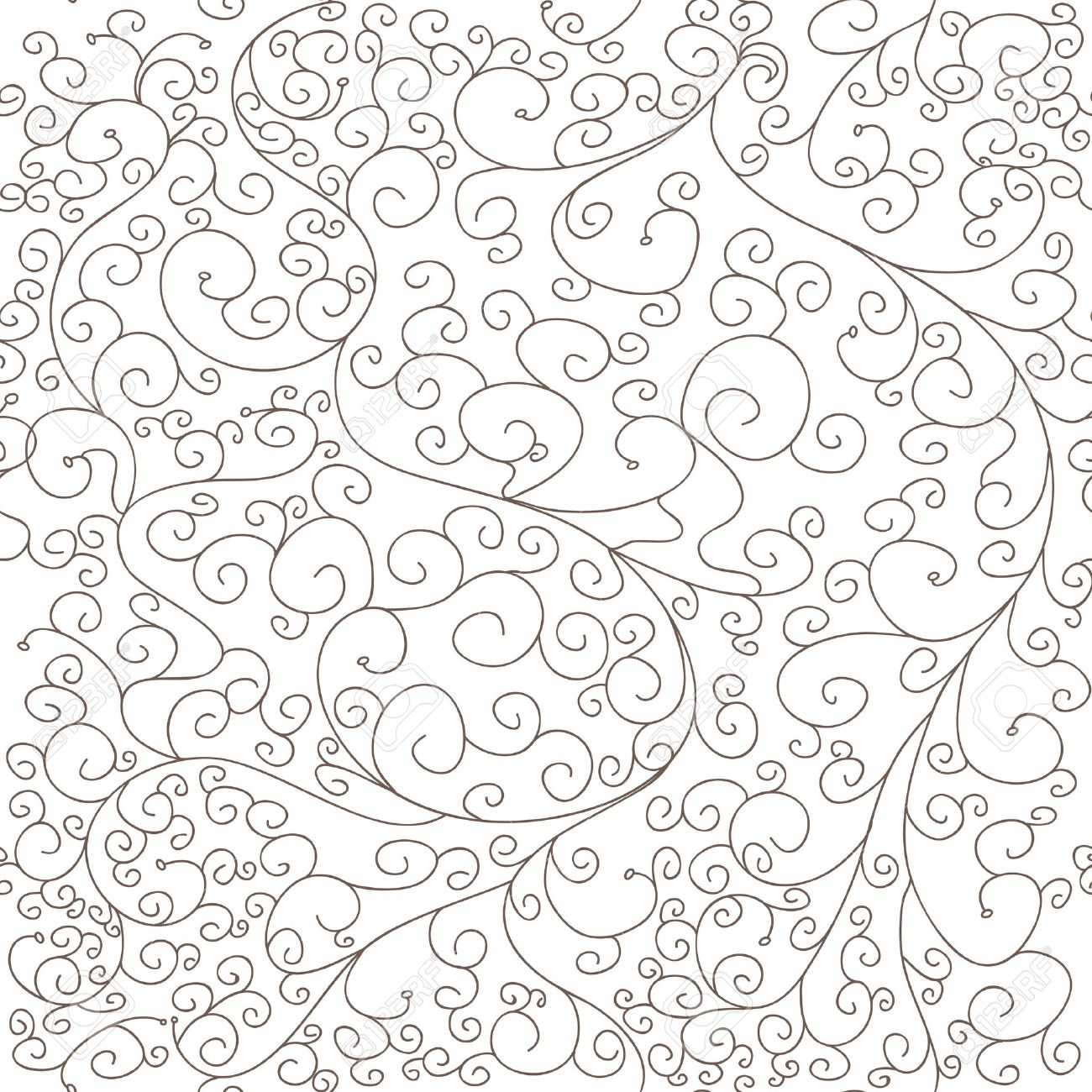 1300x1300 Seamless Vector Texture With Drawing Swirls Royalty Free Cliparts